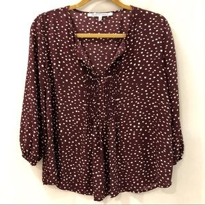 Collective Concepts Burgundy Blouse